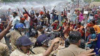 Protestas en Lucknow