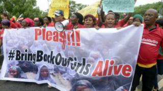 Masu zanga zanga akan matan Chibok