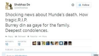 शोभा डे का ट्वीट