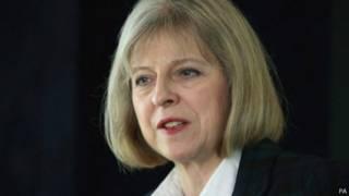 تريزا ماي وزيرة داخلية بريطانيا