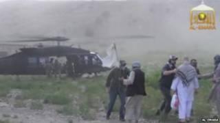 अमरीकी सैनिक की रिहाई का वीडियो