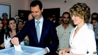 بشار اسد و همسرش
