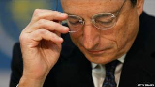 Президент ЄЦБ Маріо Драгі робить ставки близькими до нуля - і нижче