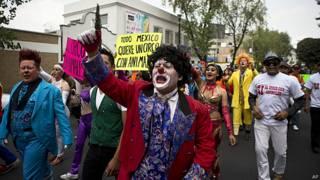 Protesta de artistas circenses