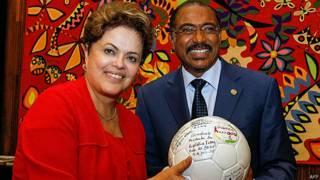 Dilma Rousseff y Michel Sibide, de la ONU