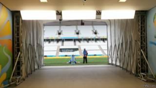 Arena Corinthians, em São Paulo, palco da abertura da Copa do Mundo