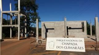 Portaria do Parque Nacional da Chapada dos Guimaraes em 30 de maio de 2014 | Foto: Camilla Costa/BBC Brasil