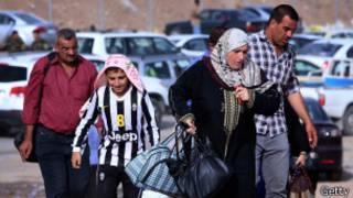 Desplazados por el avance de Isis