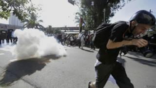 Разгон демонстрантов в Сан-Пауло