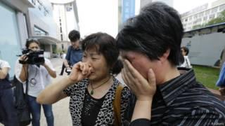Китайские родственники погибших пассажиров