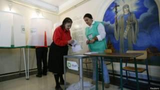 Избирательный участок в Тбилиси