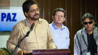 Delegados de las FARC al proceso de paz.