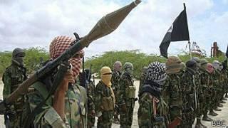 'Yan kungiyar Al Shabbab a Somaliya