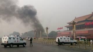 Condenados a muerte por ataque en la Plaza de Tiananmen