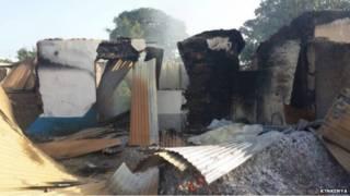 ساختمان سوخته در کنیا