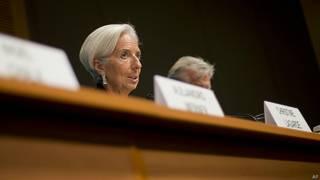 Christine Lagarde a pris la tête du FMI en juillet 2011, remplaçant à ce poste son compatriote Dominique Strauss-Kahn.