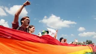протест ЛГБТ в Петербурге