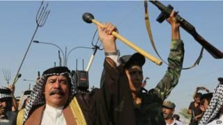 बगदाद में सुन्नी चरमपंथियों के खिलाफ नागरिक