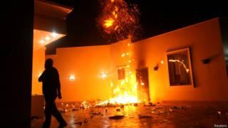 सितंबर 2012 में लीबियाई शहर बेनग़ाज़ी में अमरीकी वाणिज्य दूतावास पर हमला