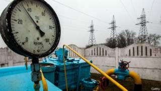 Registro de gasoducto ruso