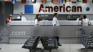 La oficina de American Airlines en Caracas