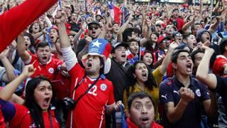 Chile España, celebraciones en Santiago