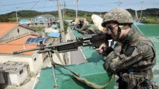 Южнокорейский солдат