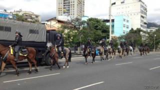 قوات أمنية برازيلية لتأمين المونديال