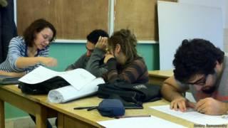 Cтуденты в аудитории Университета Глазго