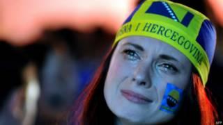 बोस्निया और हर्जेगोविना की एक प्रशंसक टीम के मैच हारने के बाद