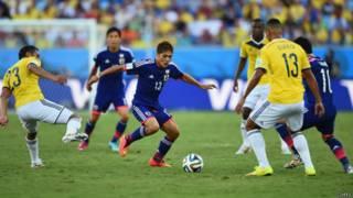 जापान और कोलंबिया का मुक़ाबला