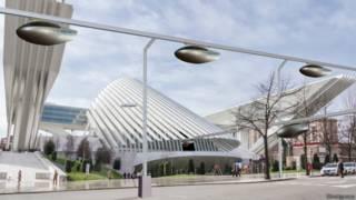 Protótipo de rede futurista da SkyTran (Divulgação)