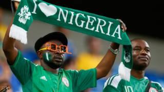 नाइजीरिया का एक फ़ुटबॉल प्रशंसक