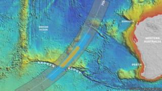 mapa de nova área de buscas do voo | Governo australiano