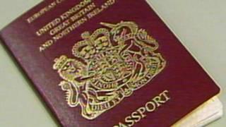英國護照封面