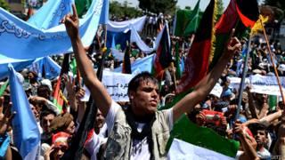 अफ़ग़ानिस्तान, काबुल, चुनाव धांधली के विरोध में प्रदर्शन, अब्दुल्ला अब्दुल्ला के समर्थक