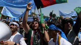 afghanistan election protest