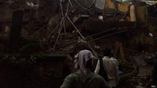 मुंबई में ढही इमारत