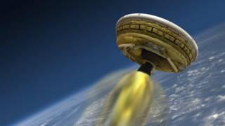 Desenho da espaçonave da Nasa (foto: AFP)