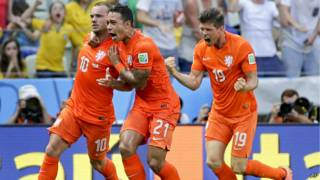 Гравцям збірної Голландії важко стримувати емоції