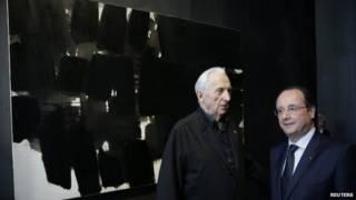 法國總統長途跋涉親訪畫家