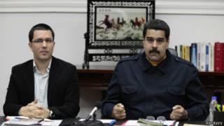 Jorge Arreaza y Nicolás Maduro, Venezuela