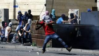 शुफ़त में फलस्तीनी विरोध प्रदर्शन