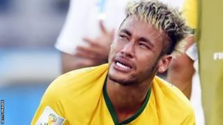 Neymar llora