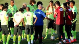 Treino da seleção brasileira em Fortaleza