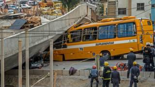 Desabamento de viaduto em Belo Horizonte (AFP)