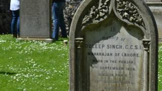 सिख महाराजा दलीप सिंह की कब्र