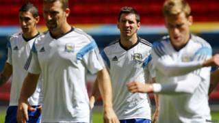 Treino da seleção argentina em Brasília