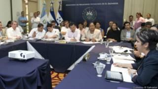 Reunión de representantes centroamericanos