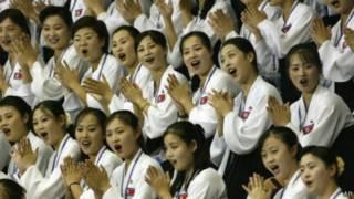 فريق تشجيع رياضي من كوريا الشمالية